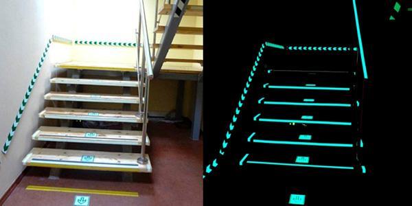 Монтаж фотолюминесцентной эвакуационной системы